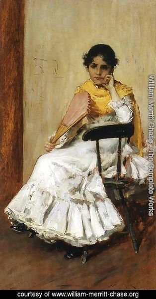 William Merritt Chase - A Spanish Girl Aka Portrait Of Mrs  Chase In Spanish Dress