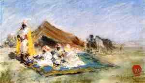 William Merritt Chase - Arab Encampment