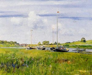 William Merritt Chase - At The Boat Landing