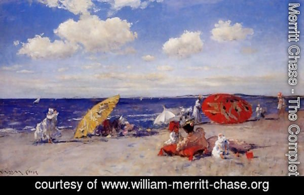 William Merritt Chase - At The Seaside
