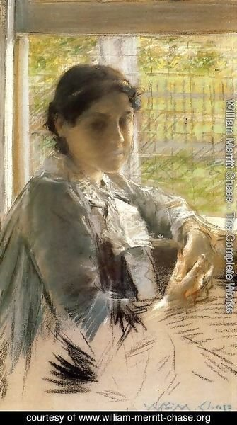 William Merritt Chase - At The Window