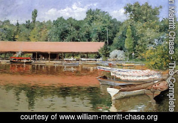 William Merritt Chase - Boat House  Prospect Park