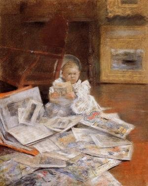William Merritt Chase - Child With Prints