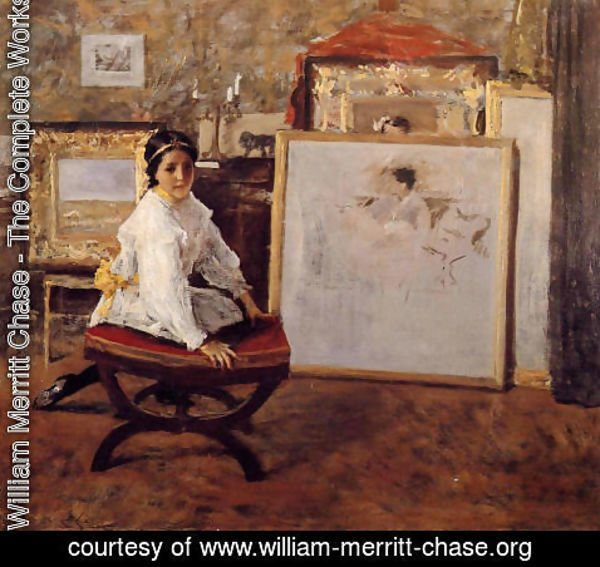 William Merritt Chase - Did You Speak To Me