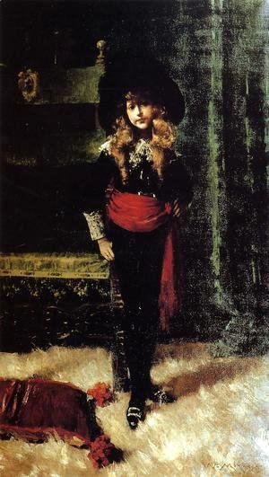 William Merritt Chase - Elsie Leslie Lyde As Little Lord Fauntleroy