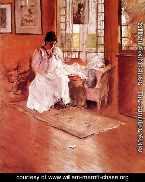 William Merritt Chase - For The Little One Aka Hall At Shinnecock
