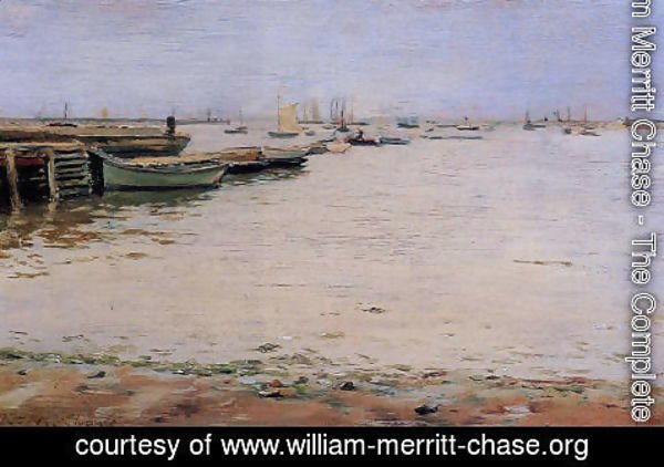 William Merritt Chase - Gowanus Bay Aka Misty Day  Gowanus Bay
