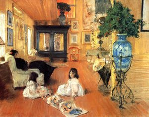 William Merritt Chase - Hall At Shinnecock