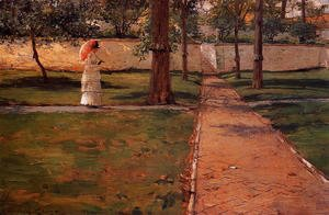William Merritt Chase - In Brooklyn Navy Yard