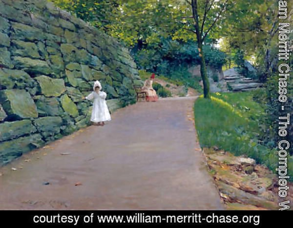 William Merritt Chase - In The Park   A By Path