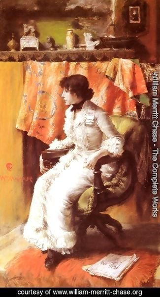 William Merritt Chase - In The Studio (Virginia Gerson)