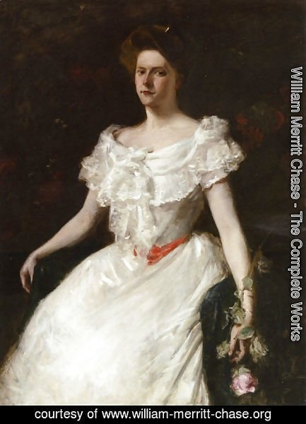 William Merritt Chase - Lady With A Rose