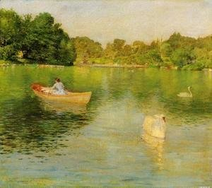 William Merritt Chase - On The Lake  Central Park
