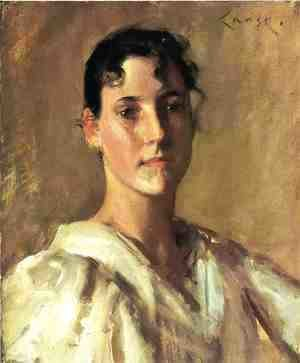 William Merritt Chase - Portrait Of A Young Woman2