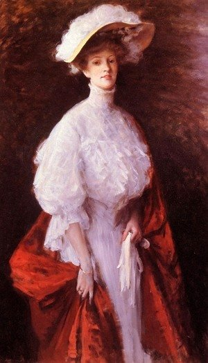 Portrait Of Miss Frances V  Earle