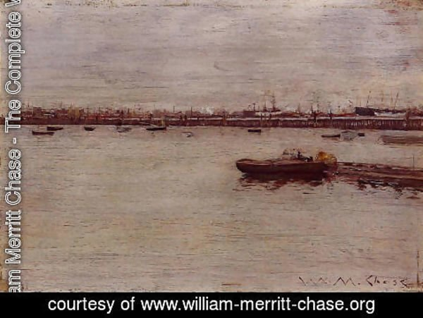 William Merritt Chase - Repair Docks  Gowanus Pier