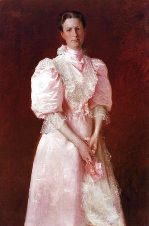 William Merritt Chase - Study In Pink Aka Portrait Of Mrs  Robert P  McDougal