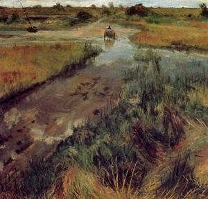 William Merritt Chase - Swollen Stream At Shinnecock
