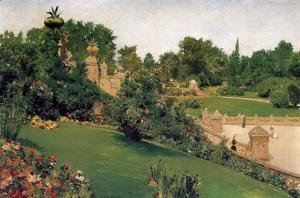 William Merritt Chase - Terrace At The Mall  Central Park