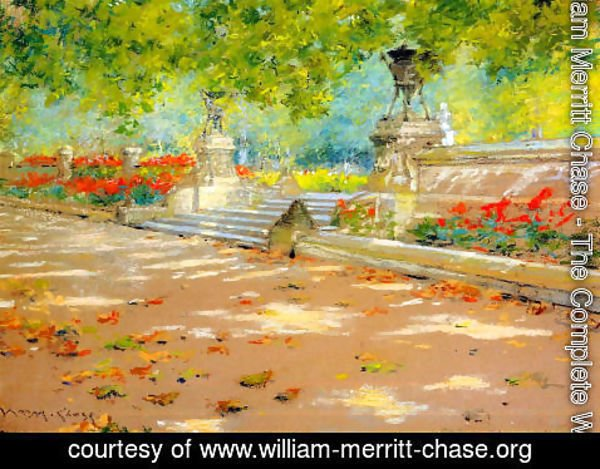 William Merritt Chase - Terrace  Prospect Park