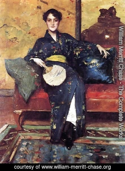 William Merritt Chase - The Blue Kimono