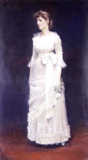 William Merritt Chase - The White Rose Aka Miss Jessup