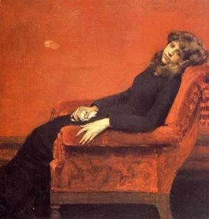 William Merritt Chase - The Young Orphan  Study Of A Young Girl