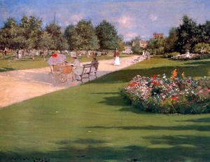 William Merritt Chase - Tompkins Park  Brooklyn